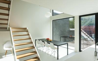 Gietvloer in een moderne woning